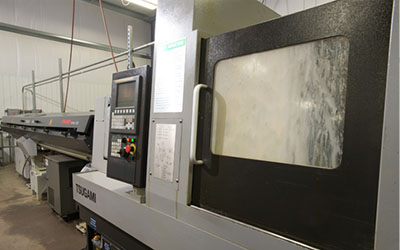 Precision Machining Technology - Tsugami B0385 w/bar feed Swiss Machine CNC Lathe
