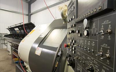 Precision Machining Technology - Nakamura-Tome WT-150 Twin Turret w/bar feed CNC Lathe